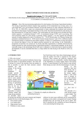 MARKET OPPORTUNITIES FOR SOLAR DRYING Ronald G.J.H. ...