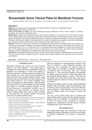 fractures of the mandibular condyle - approaches and osteosynthesis The evidence supporting surgical treatment, there is a need to debate the best method of approach for accessing condylar fractures [6] the type of osteosynthesis, anatomic positioning of the fracture of the condylar process, the presence of additional jaw fractures, the experience of the surgeon, possi- ble complications, and.