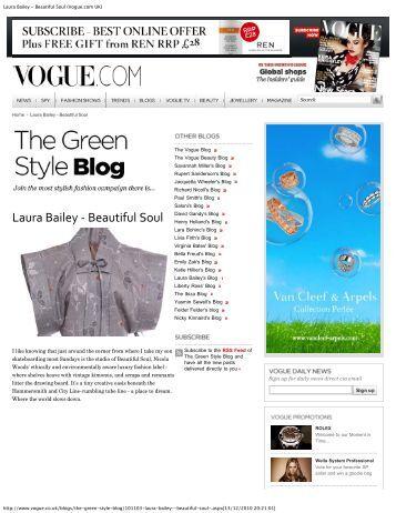 Laura Bailey - Beautiful Soul (Vogue.com UK)