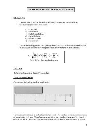 error analysis lab This is an example lab report from the chm 116 webct course that has been modified so the cover page is consistent with the fall 2004 chm  discussion/error analysis.