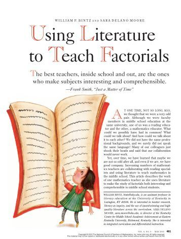 Using Literature to Teach Factorials