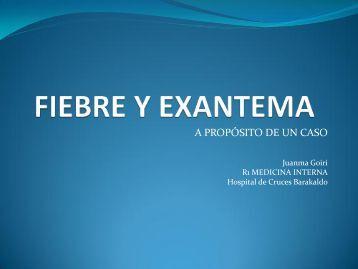 FIEBRE Y EXANTEMA - EXTRANET - Hospital Universitario Cruces