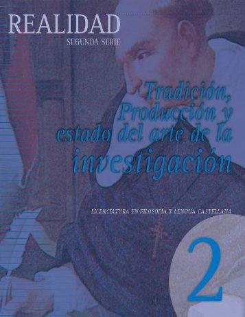 Tradición, producción y estado del arte de la Investigación