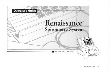 puritan bennetts renaissance Puritan bennett renaissance ii spirometer g050702872 pb-700 - $24998 hello this is for (1) puritan bennett pb-700 unit came from a business liquidation auction.