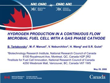Hydrogen production - Microbial Fuel Cells