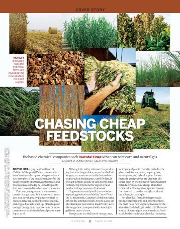 CHASING CHEAP FEEDSTOCKS - Chemical & Engineering News