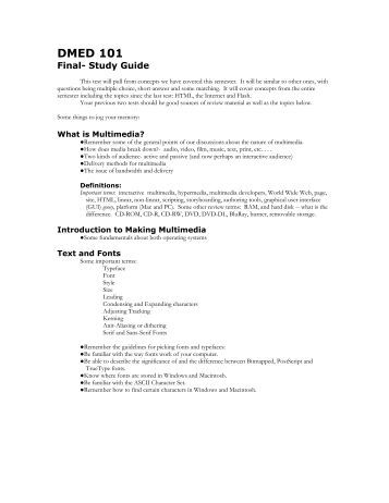 how to make a study guide for finals