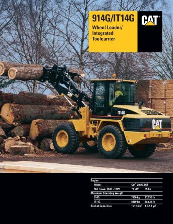 Specalog for 914G/IT14G Wheel Loader/Integrated ... - Teknoxgroup