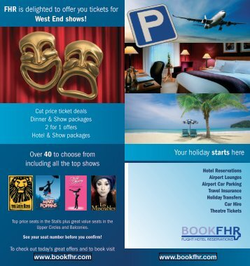 FHR is delighted to offer you tickets - FHR Airport Parking and Hotels
