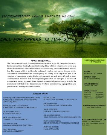 environmental law and practice review - NALSAR University of Law
