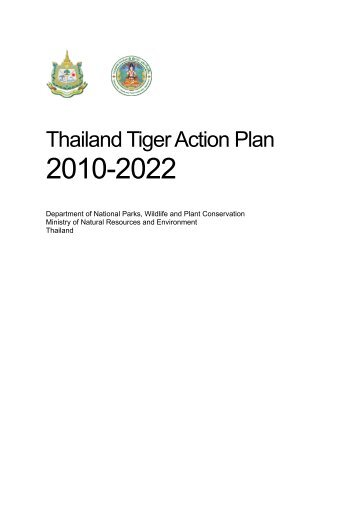 Thailand Tiger Action Plan - Global Tiger Initiative