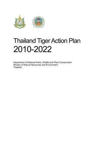 Thailand Tiger Action Plan - Global Tiger Initiative