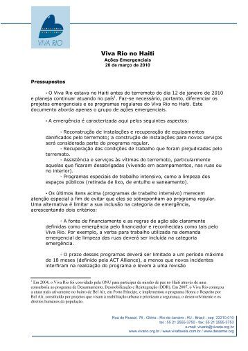 Viva Rio no Haiti - Comunidade Segura