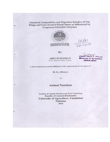 Chemical Composition and Digestion Kinetics of ... - icdd@uaf.edu.pk