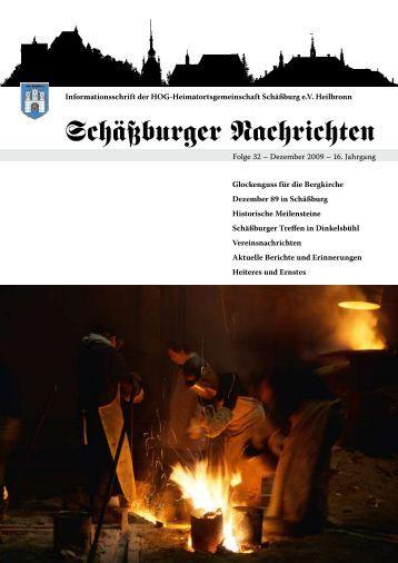 Schäßburger Nachrichten SN32 - HOG Schäßburg eV