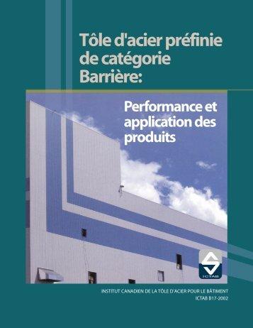 Tôle d'acier préfinie de catégorie Barrière: - CSSBI