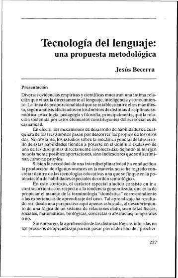 Tecnologia del lenguaje: - Estudios sobre las Culturas ...