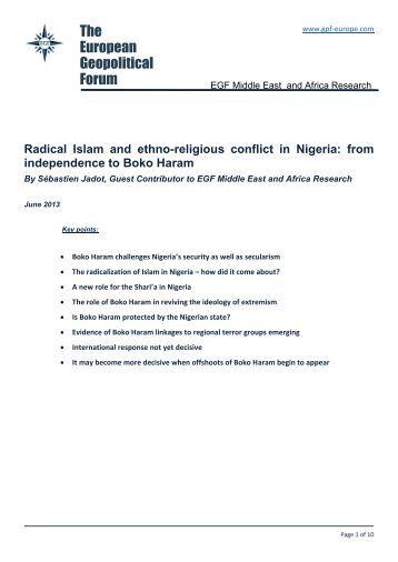 ethno religious conflict in nigeria pdf