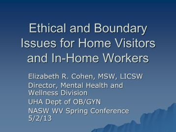 ethical challenges of boundary issues Privacy, professionalism, boundary issues, and policies  ethical issues,  challenges, and social networking policy18.