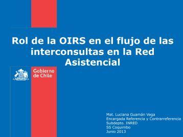 Rol OIRS flujo Interconsultas. - Servicio de Salud Coquimbo - Home