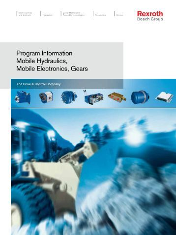 Program Information Mobile Hydraulics, Mobile ... - Bosch Rexroth