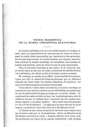 TEORIA ELEMENTAL DE LA BOMBA CENTRÍFUGA ELEVATORIA ...