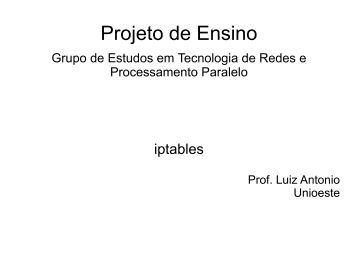 iptables - INF-Unioeste