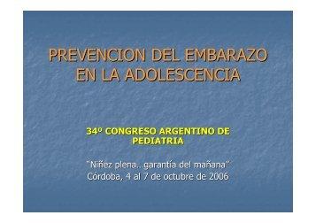 PREVENCION DEL EMBARAZO EN LA ADOLESCENCIA