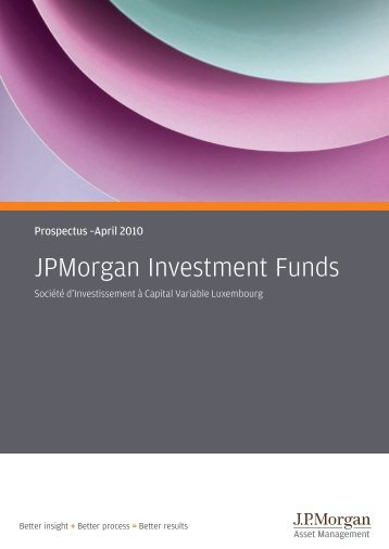 JPMorgan Investment Funds - Efama
