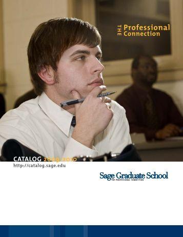 2009-2010 - Catalog Sage - The Sage Colleges