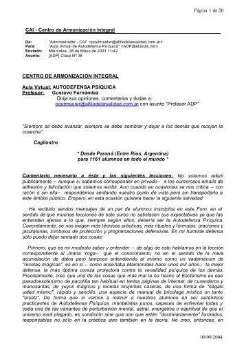 CAI - Centro de Armonización Integral Página 1 de 20 09/09/2004 ...