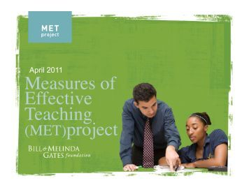 measures of effective teaching research paper Research-article2014 examining teacher effectiveness using classroom observation scores: evidence from the randomization of teachers to students the measures of effective teaching (met) study to identify teacher effectiveness using scores from document how well multiple measures of teacher performance.