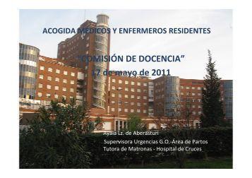 la comisión de docencia - EXTRANET - Hospital Universitario Cruces