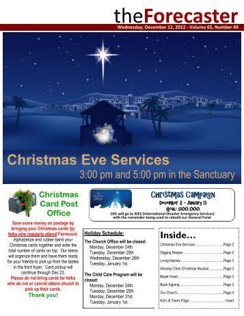 Dec 12: Cover Story - Christmas Eve Services - Fairmount Christian ...