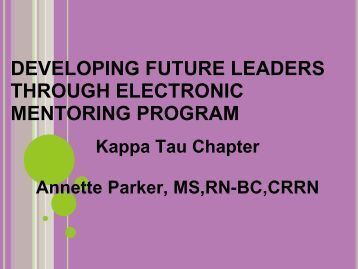 developing future leaders through electronic mentoring program