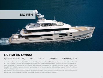Big Fish Charter Brochure - Buy Explorer Yachts.com