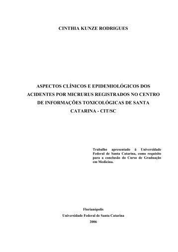cinthia kunze rodrigues aspectos clínicos e epidemiológicos ... - UFSC