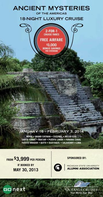 Ancient Mysteries of the Americas - MSU Alumni Association ...