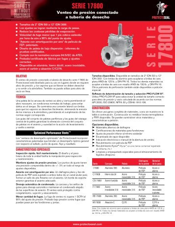 Hoja de especificaciones del producto – PDF - Protectoseal