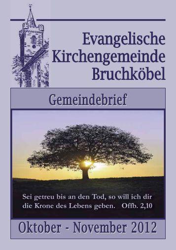 Gemeindebrief Oktober - November 2012 - Evangelische Kirche ...