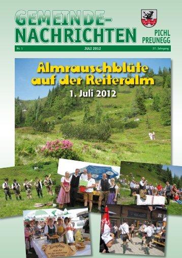 SPRECHTAGE bzw. PARTEIEN- VERKEHR - Tourismusverband Pichl