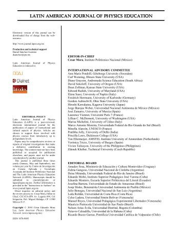 Editorial - Latin-American Journal of Physics Education