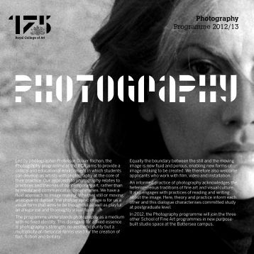 Photography Programme 2012/13 - Study in the UK