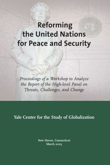united nations role in peace and United nations role view it may either be said that a threat to international peace by definition cannot be a matter essentially within the domestic juris.