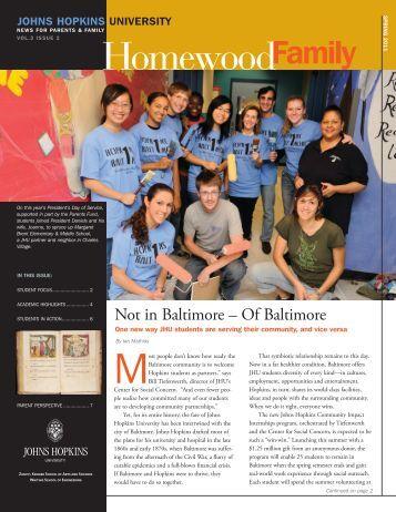 Spring 2011 - Parents Program | Johns Hopkins University