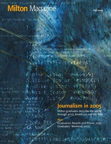 Fall 2005 PDF - Milton Academy