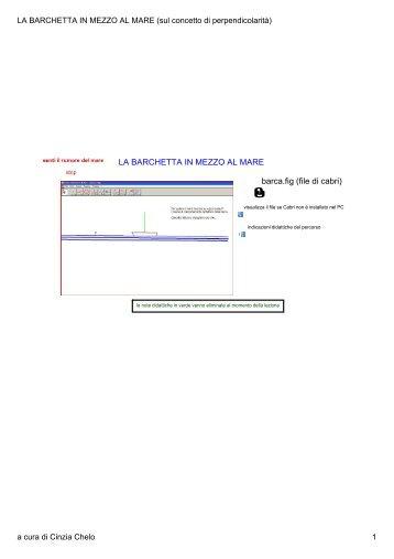 LA BARCHETTA IN MEZZO AL MARE (sul ... - lim & matematica