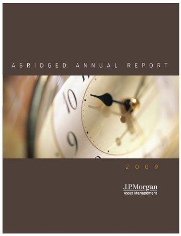 JPMorgan Annual Report 2008-09 - JP Morgan Asset Management