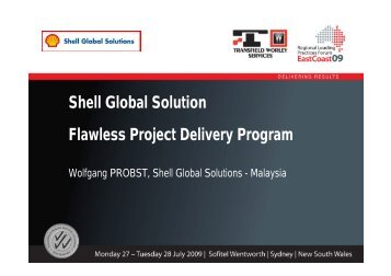 Shell Global Solution Flawless Project Delivery ... - Transfield Worley