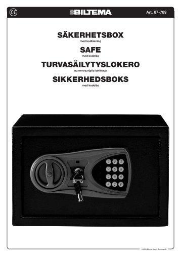 säkerhetsbox safe turvasäilytyslokero sikkerhedsboks - Biltema